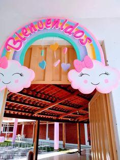Cartel Panda Birthday, Unicorn Themed Birthday, Rainbow Birthday, Birthday Party Themes, Diy Baby Shower Decorations, Baby Shower Themes, Baby Boy Shower, Rain Baby Showers, Baby Shower Souvenirs