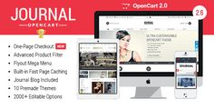 Journal the ultimate OpenCart theme with best in class features and more than 2000 editable options giving you total control over your store. Free Download.