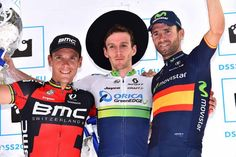 Adam Yates (Orica-GreenEdge) takes his biggest career win at the 2015 Clasica San Sebastian with Philippe Gilbert (2nd)  & Alejandro Valverde (3rd).
