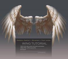 20 Ideas How To Draw Wings Feathers Tattoo Ideas La Santa Muerte Tattoo, Wing Anatomy, Angel Wings Drawing, Angel Wings Painting, Angel Wings Art, Art Tutorials, Drawing Tutorials, Bird Wings, Drawing Techniques
