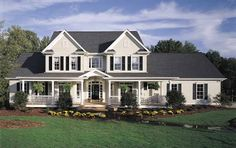 Eplans Farmhouse House Plan - Just the Right Amount - 3163 Square Feet and 4 Bedrooms from Eplans - House Plan Code HWEPL07098