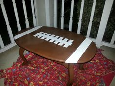 Football Coffee Table Love This But I Think He Would Put Diffe Legs On It