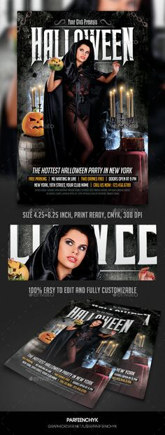 Halloween Party Flyer Tempalte #design Download: http://graphicriver.net/item/halloween-party-flyer-template/9193216?ref=ksioks