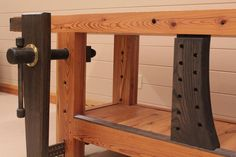 Woodworking Workbenches Heart Pine Roubo Bench for hand tool woodworking Wood Top Workbench, Portable Workbench, Workbench Plans, Woodworking Workbench, Woodworking Hand Tools, Woodworking Projects, Build Your Own Garage, Old Tool Boxes, Wood Jig