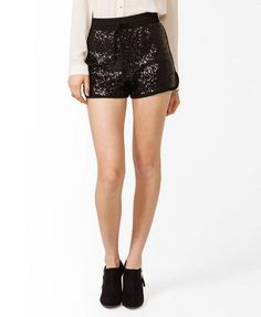 Sequined Dolphin Shorts | FOREVER 21 - 2030187433