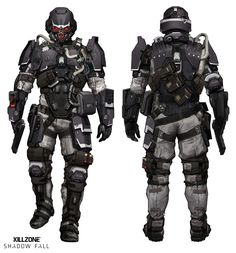 This is a pretty awesome trooper outfit from the video game Killzone. I think this is along the lines of where I want to go.