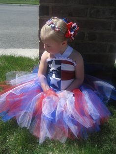 Adorable Boutique Patriotic 4th of July Corset and Tutu