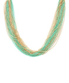 Look what I found on #zulily! Gold & Mint Lucille Layer Necklace #zulilyfinds