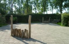 PAM - Houten doel - Speelnatuur Art School, Playground, Ose, Plants, Kids, Green, Homes, Children Playground, Young Children