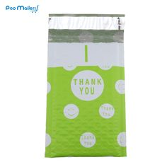 10pcs Poly Bubble Mailers 120*180mm Bubble Envelopes Green and Pink Creative Dot THANK YOU Pattern Bubble Lined Poly Mailer. Yesterday's price: US $4.42 (3.65 EUR). Today's price: US $3.18 (2.63 EUR). Discount: 28%.