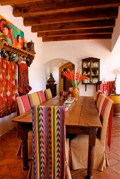 dining room goals..  san miguel de allende- hacienda carole meyer. Love floors and table