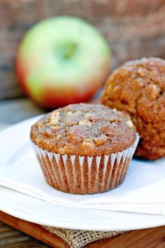 Let's Dish Recipes: APPLE OATMEAL MUFFINS