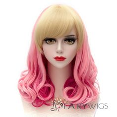 Japanese Lolita Style Mixed Color Wave Cosplay Wigs