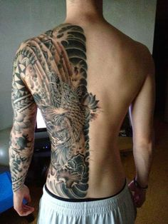 A Half Body Tattoos Design