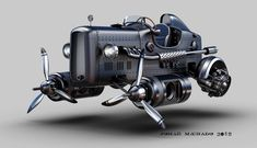 Dieselpunk Gallery added a new photo. Hover Car, Hover Bike, Retro Futuristic, Futuristic Technology, Diesel Punk, Steam Art, Steam Punk, Cool Car Drawings, Flying Vehicles