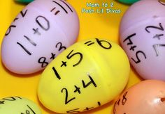 Fact Family Eggs - these make a fun math center & it's so easy to prep and set-up!