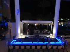 BLUE Bar located at the Renaissance Marina Hotel - Aruba. For those on-island come down and check out the newly remodeled BLUE bar and try one of our great specialty drinks.