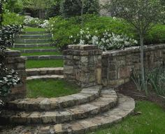 "rustic stone steps and grass landings""  ""steps in ..."