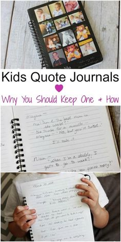 Parenting tips. Keeping a kid's quote journal: Why and How. Great ideas to help you keep track out the adorable things you're little ones say. Kid's quote journals are a fun keepsake your family will treasure for years.