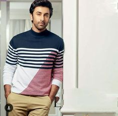 R:K Ranbir Kapoor, Bollywood Stars, Men Sweater, Handsome, Mens Fashion, Actors, Long Sleeve, People, Sleeves