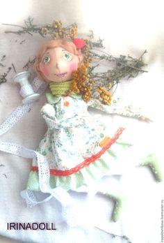 Купить Полина - мечтательница. - оранжевый, кукла, зеленый, хаки, рыжий, ржавый, оливковый, осень, осенний