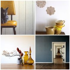 Mustard - creates a subtle and fun vintage feel.