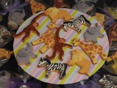 Safari Animal Baby Shower Cookies By Evoir on CakeCentral.com