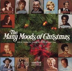 """Various - The Many Moods Of Christmas: Great Songs By Great Artists Of Our Time (Vinyl, LP) at Discogs (Barbra Streisand sings """"O Little Town Of Bethlehem"""")."""