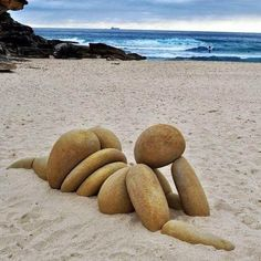 The Venus of Willendorf goes to the beach... More