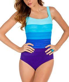 Miraclesuit Purple   Aqua Spectra Band It One-Piece 64a43d4c1