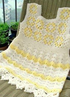 14e173776 Las 25 mejores imágenes de Vestido niña tejido Crochet + patrón ...