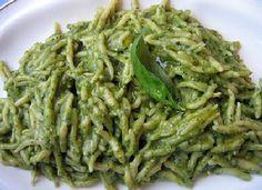 Trofie pasta with pesto
