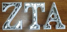 Zeta Tau Alpha Letters by TheArtfulMind on Etsy