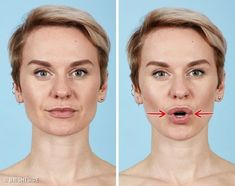 7 Effective Exercises to Get Rid of Wrinkles in 12 Minutes. Facial enhancement, i. facial actuation, makes the skin more elastic and regulated. Do Exercise, Excercise, Facial Yoga, Face Exercises, Face Massage, Wrinkle Remover, Facial Care, Tips Belleza, Beauty Recipe