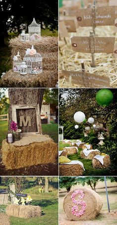 decoracin con heno boda rustic parawedding