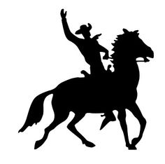 Cowboy horse and rider silhouette