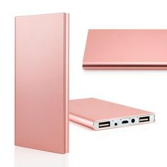 20000mah Double USB Ultra Thin Portable External Battery Charger Power Bank for Mobile Cell Phone iPhone - Rose Gold - Walmart.com