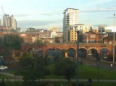 Morning over Leeds City Centre from the railway arches. Leeds City, Arches, Centre, Arch, Bows