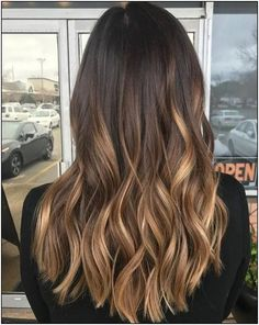160 amazing golden blonde hair color ideas for women 2019 page 29 ~ - All About Hairstyles Brown Hair Balayage, Balayage Brunette, Hair Color Balayage, Brunette Hair, Hair Highlights, Blondish Brown Hair, Golden Highlights, Brown Ombre Hair, Ombre Hair Color