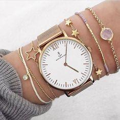 Un hermoso reloj lo podes usar con pulseritas delicadas ⌚