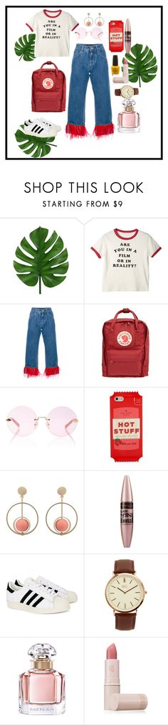 """""""r u in a film or reality?"""" by salsabillasy on Polyvore featuring Dolce&Gabbana, Fjällräven, Karen Walker, Kate Spade, Maybelline, adidas Originals, BKE, Guerlain, Lipstick Queen and 90s"""