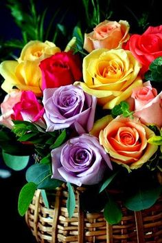 Rainbow roses are fantastic.