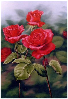 GYPSY ROSES - oil painting by Judy Sleight