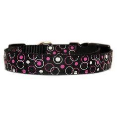 Mirage Pet Products Retro Nylon Ribbon Collar, Medium, Black -- Remarkable product available now. : Collars for dogs