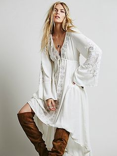 Beautifully embroidered high low dress from Free People