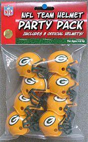 New! Green Bay Packers Team Helmet Party Pack #GreenBayPackers