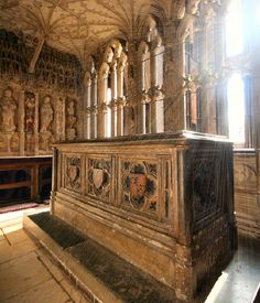 The tomb of Prince Arthur Tudor (1486-1502) in the Chantry Chapel at Worcester Cathedral ~ Prince Arthur was the eldest son of Henry VII and Elizabeth of York. Destined to be king of England, he was married to Catherine of Aragon in 1501. After their marriage, Arthur and Catherine travelled to Ludlow Castle, where he died suddenly,  on the 2nd April 1502. The cause of death is unknown, but is thought to have been either consumption, complications of diabetes, or hantavirus.