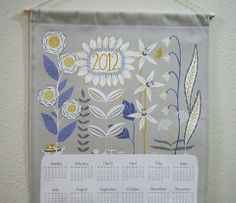 lovely Wildflowers tea towel calendar by Patty Sloniger
