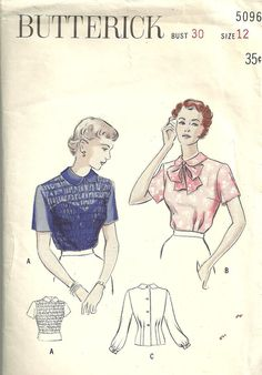 40s sheer blouse pattern