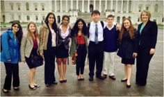 High School's Green Team met with legislators on Capitol Hill to speak about education and environmental policy.